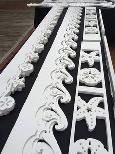 Decorative House Trims. Wave and starfish / sand dollar theme, and more motifs coming soon! http://www.islandcreekdesigns.com/seaside-cottage-porch-trim