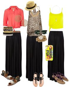 """Black Maxi Skirt. ready for spring!!"" by chicstreet-831 on Polyvore"