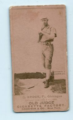 SOLD - 1880's old Judge Chicago White Stockings (Cubs) card