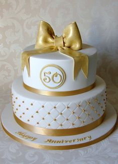 50th Wedding Anniversary Cake by RubyteaCakes, via Flickr