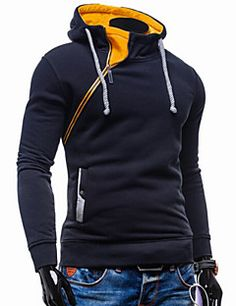 Suéters e Moletons ( Mistura de Algodão ) MEN - Casual Molet... – BRL R$ 61,53