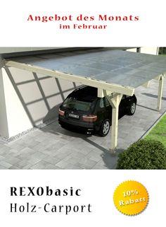 die gnstige garagen alternative holz carports von rexin komplettbaustze mit vielen lichtplatten zur auswahl