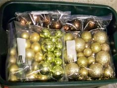 Storing Away Christmas Ornaments on a Budget
