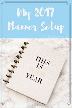 2017 planner setup using The Happy Planner.    See how I use this weekly planner in 2017. Similar to Erin Condren planners.