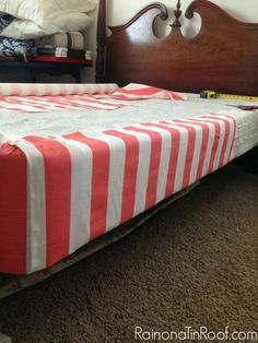 Decorative Box Spring Cover Queen Add Boards To Bottom Of Box Spring Cover In Fabric And Add Some