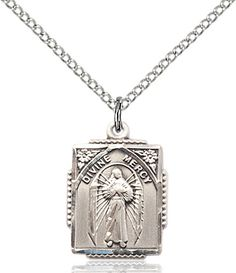 Divine Mercy Pendant (Sterling Silver) by Bliss | Catholic Shopping .com