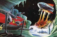Thunderbirds Are Go, Little Golden Books, Sci Fi Art, Science Fiction, Super Cars, Coloring Books, Nostalgia, The Past, Retro