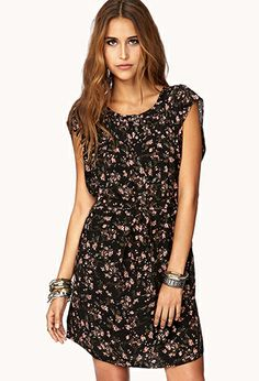 Whimsy Floral Shift Dress w/ Sash Cute Simple Dresses, Cute Dresses, Cute Outfits, Short Sleeve Dresses, Phoebe Tonkin Style, Marshall Dresses, Dress Me Up, Fashion Beauty, Women's Fashion