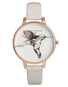 Olivia Burton Mink Hummingbird Watch #Watches #WellRoundedFashion