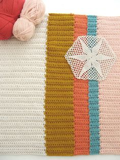 hand knit blanket: dottie angel