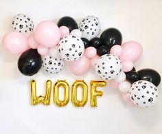 Pawty Dog Pawty Garland Doggy Birthday Puppy Party Dog Party Dog Birthday Theme # 1 Pup Puppy Party Dog Balloons Paw Print Balloons - New Sites Dog First Birthday, Puppy Birthday Parties, Puppy Party, Animal Birthday, Birthday Party Themes, Birthday Ideas, Birthday Decorations, Dog Themed Parties, Dog Parties