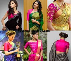 3f05c9625e621c 1 Pink Blouse And 7 New Saree Looks!!