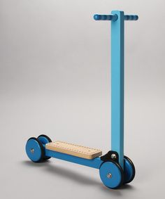 Blue Wooden Folding Scooter by Le Toy Van on #zulilyUK today!