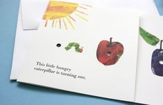 A Very Hungry Caterpillar Birthday Invitation |