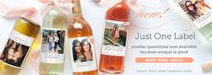 Will you be my bridesmaid? custom wine labels