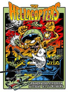 Dirty Donny Gillies- Poster for the Hellacopters last show