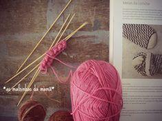 as minhas meias da concha #knittingnewincrediblesocks