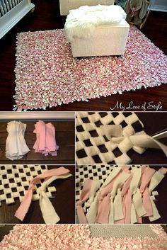 Check out the tutorial: #DIY Rag Rug #crafts #homedecor                                                                                                                                                                                 More