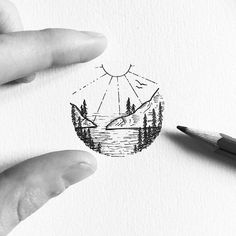 nature circle tattoo