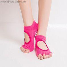 Yoga Retro Pilates m Toesox Damen Womens Low Rise Half Grip Non-Slip for Ballet Barre Toe Socks