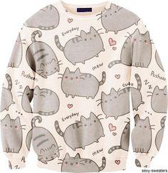 New Fashion Men/Women Cartoon Pusheen Cat Sweatshirt Printed Moleton Long Sleeve Animal Hoodies Sweatshirts Women Hoody, Gender Best Quality And Cheapest Price Kawaii Fashion, Cute Fashion, Look Fashion, New Fashion, Sweet Fashion, Fashion Styles, Korean Fashion, Fashion Outfits, Gyaru