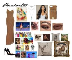 """""""Pocahontas🏹By:Amie🏹"""" by anneamiejole ❤ liked on Polyvore featuring beauty, HEX, Versace, M&Co, Madison Park, Ralph Lauren Home, Pillow Decor, Disney, Naeem Khan and Christian Louboutin"""