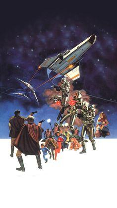 Classic Sci Fi, Classic Movies, Battlestar Galactica Movie, Kampfstern Galactica, Star Trek Posters, Sci Fi Rpg, Sci Fi Tv Shows, Best Movie Posters, Nerd Art