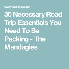 30 Necessary Road Trip Essentials You Need To Be Packing - The Mandagies