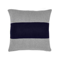 Aura Big Stripe Cushion - Indigo