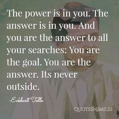 its never outside eckhart tolle picture quote