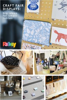 Craft fair inspiration - big ideas for small tables projects Craft Fair Displays, Shop Window Displays, Display Ideas, Small Table Saw, Design Café, Diy Workbench, Branding, Shop Plans, Space Crafts