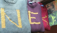 The Weasley Sweater - Custom Harry Potter Sweaters made just for you - Your initial on a sweater - Monogram from SewEcological. Weasley Sweater, Harry Potter Sweater, Harry Potter Pin, Harry Potter Outfits, Must Be A Weasley, Harry Potter Nursery, Hogwarts Alumni, Harry Potter Merchandise, Sweater Making