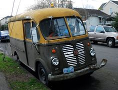 1959 International Harvester AM-150 Metro Van OLD PARKED CARS