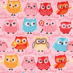 http://www.kawaiifabric.com/en/p10933-pink-cute-colorful-owl-design-knit-fabric-Riley-Blake-Tree-Party.html