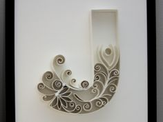 """J"" - Papercraft Typography by Teresa Wozniak"