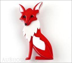 Erstwilder Brooch Pin Ferne Fox Front