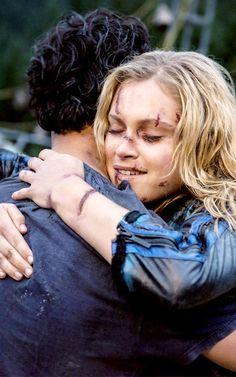 Photo of Bellamy and Clarke for fans of The 100 (TV Show).