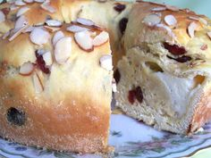 This recipe can be made with a cheese filling. Which can be made while dough is rising. The rising times are not included. There are 3 rising times be sure to do the rising of the dough in a draft free, warm place. The picture posted is with dried cherries, dried cranberries and the optional saffron. I must say this is one of my favorite home made or store babkas bought to date. The filling was so creamy and rich.