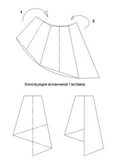 Простая юбка с воланчиками