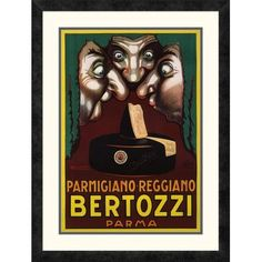 """Global Gallery 'Bertozzi' by Luciano Achille Mauzan Framed Vintage Advertisement Size: 28"""" H x 21.15"""" W x 1.5"""" D"""