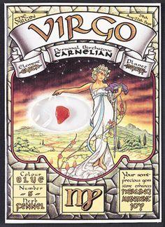 Virgo gemstone card