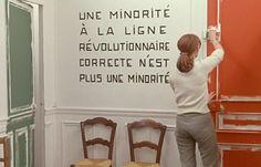 Film still from Godard's La Chinoise, 1967