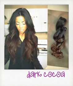 DARK COCOA  Ombre Hair Human Hair Extensions. by TheHouseOfHair, $68.00