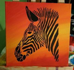 Zebra acryl Orange animal