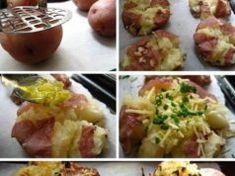Zapečené štouchané brambory se sýrem a česnekem. Ideální rychlé jídlo na váš stůl