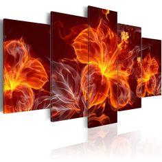 Votre intérieur est à 2 doigts de vous remercier  ---------------------------------------------------------------------  Tableau - 5 tableaux - Fiery Flowers à 79,90€  sur https://www.recollection.fr/tableaux-abstraction-fleurs-et-plantes/10927-tableau-fiery-flowers.html  #Fleurs et plantes #mobilier #deco #Artgeist #recollection #decointerior #interiordesign #design #home  ---------------------------------------------------------------------  Mobilier design et décoration intérieure…