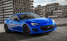 Download wallpapers Subaru BRZ, 2018, blue sports coupe, Japanese cars, blue BRZ