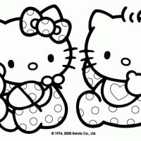 Looking for a Free Hello Kitty Coloring Pages Online. We have Free Hello Kitty Coloring Pages Online and the other about Coloring Pages it free. Tinkerbell Coloring Pages, Cute Coloring Pages, Cartoon Coloring Pages, Disney Coloring Pages, Coloring For Kids, Printable Coloring Pages, Coloring Books, Hello Kitty Baby Shower, Hello Kitty Birthday