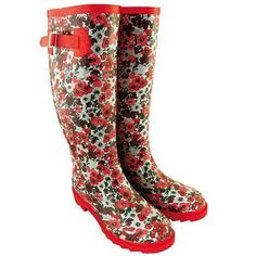 Flowers Rainy Day Fashion, Rainy Days, Rubber Rain Boots, Girly, Flowers, Clothes, Shoes, Style, Women's