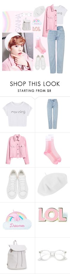 """""""SanHa Inspired⭐️✨(ASTRO)"""" by mikaelyelow7 ❤ liked on Polyvore featuring WithChic, Won Hundred, GCDS, Alexander McQueen, Betmar, Jazzelli Designs, Valley Cruise Press and Aéropostale"""